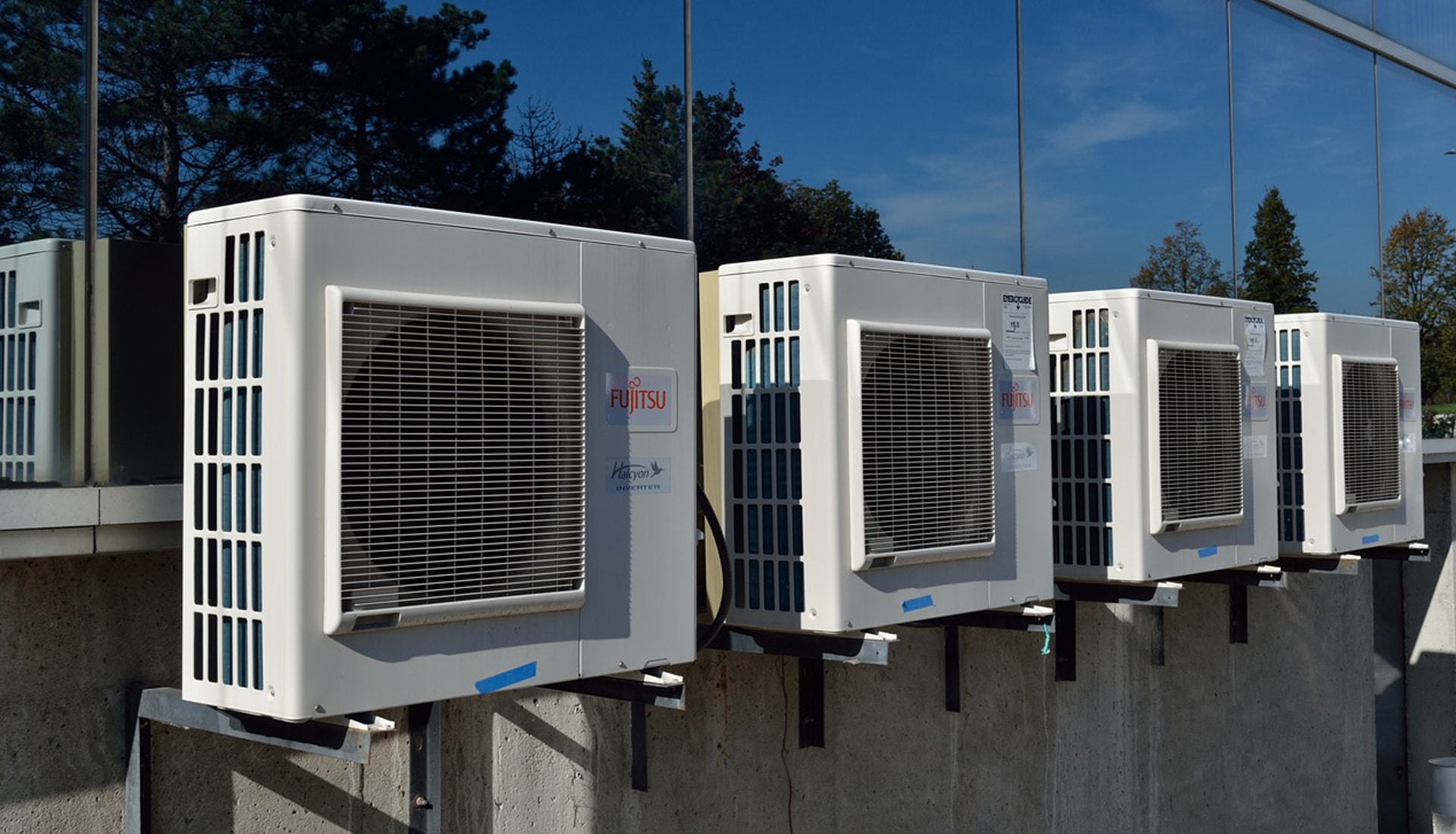 HVAC Air Filtration Systems Mounted on a Wall